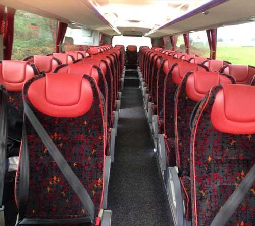 Inside Business Class Coaches of coachhire4u