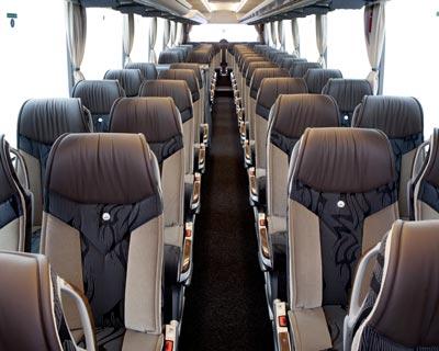 Inside VIP Class Coaches of coachhire4u