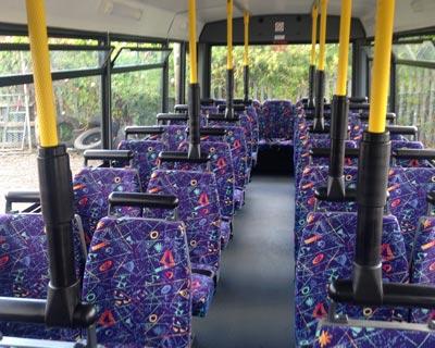 Inside Economy Class Coaches of coachhire4u